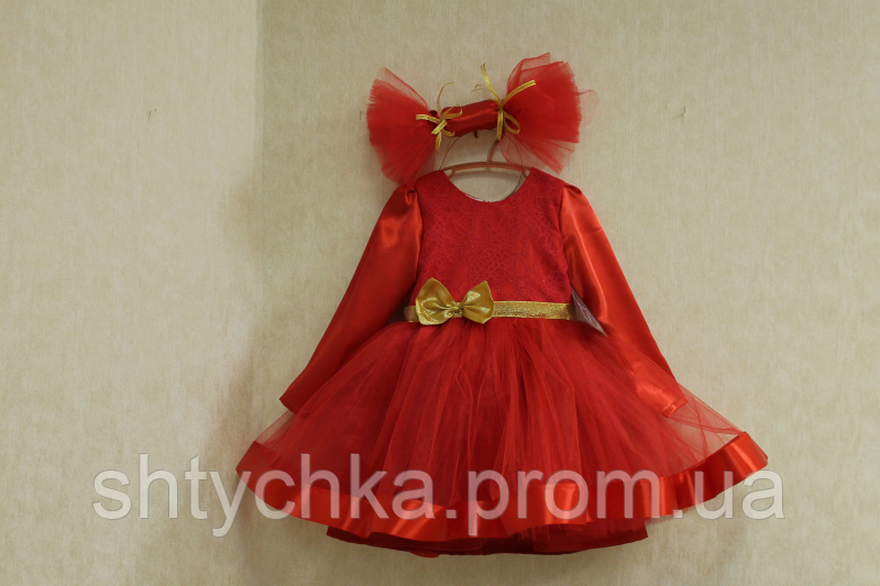 """Нарядное платье на девочку в стиле """"Конфетка"""" красное"""