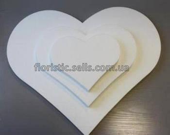 Сердечко из пенопласта 11 см