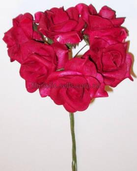 Латексные розы 5см бордовые