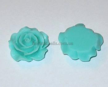Розочка Fimo 3 см голубая