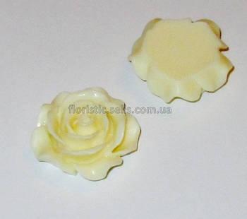 Розочка Fimo 3 см кремовая