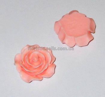 Розочка Fimo персиковая 2,5 см