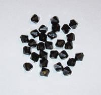 Бусины 10 мм Черный кристалл