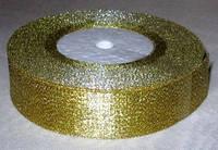 Лента парча 4 см золото