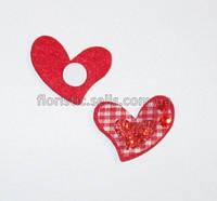 Валентинка - липучка; 3,5 см