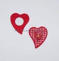 Валентинка - липучка 4 см клетка