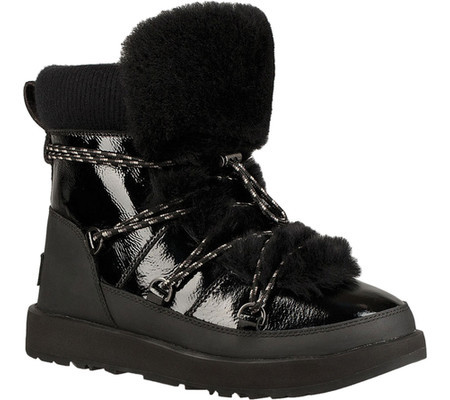 7ec4b9cf938 Женские ботинки UGG Highland Waterproof Leather Boot Black Patent ...