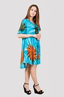 Летнее легкое платье свободного размера