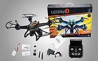 """Большой квадрокоптер дрон усиленный радиоуправляемый Wi-Fi Cheerson 35. Дрон с камерой и монитором """"Леопард""""."""