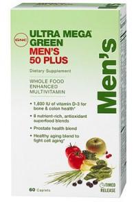 GNC Мужские витамины и минералы Ultra Mega Green Men's 50 plus (60 caps)