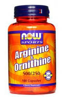 Аминокислоты аргинин Arginine & Ornithine (100 caps)