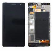 Дисплей с тачскрином Nokia 730 Lumia Dual Sim, 735 Lumia Dual Sim RM-1040 черный в рамке (HQ)