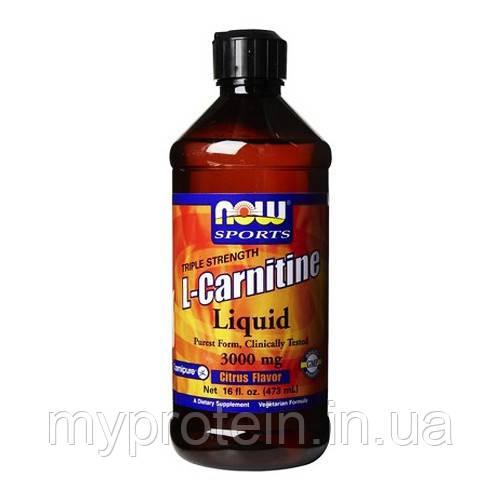 Купить NOW Л-карнитин L-Carnitine Liquid 1000 mg (473 ml