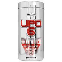 Жиросжигатель Lipo 6 Unlimited NEW (150 g ) (60 пор. )