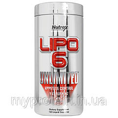 Nutrex Жиросжигатель Lipo 6 Unlimited NEW (150 g ) (60 пор. )