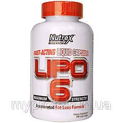Nutrex Жиросжигатель Lipo 6 Maximum Strength (120 caps)