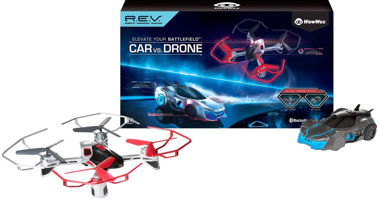 Набор роботизированная машинка и дрон на управлении, Robotic R.E.V Air, WowWee, Оригинал из США