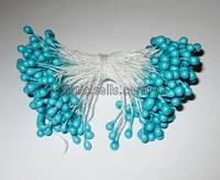 Тычинки глянец голубые 5,5 см