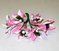Колокольчики розовые 3,5 см