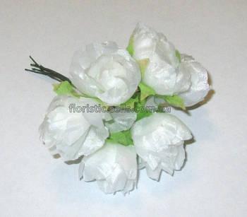 Ранункулюсы искусственные 3 см, белые