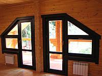 Дверь балконная с окнами