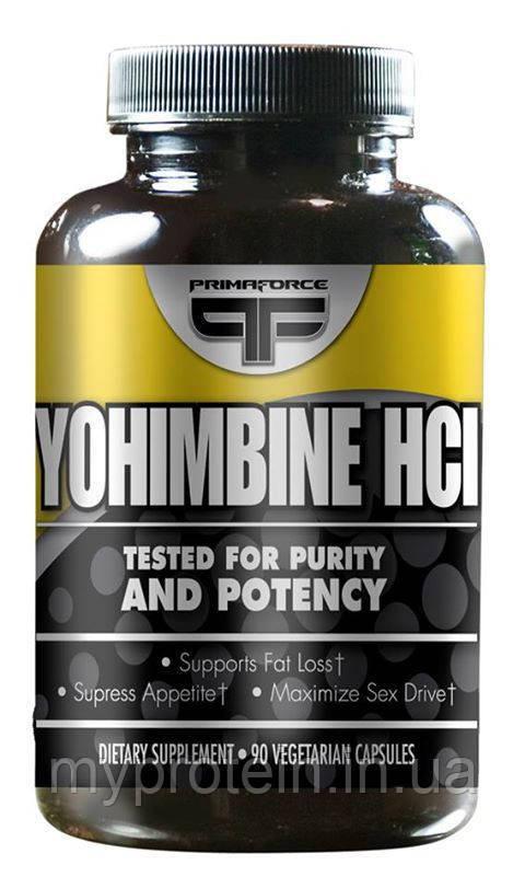 Йохимбин Yohimbine HCL (90 caps)