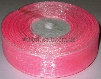 Лента органза 2,5 светло-розовая - 1м