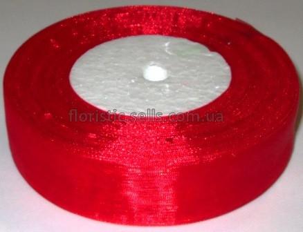 Лента органза 2,5 красная - 1м