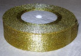 Лента парча 4 см золото - 1м
