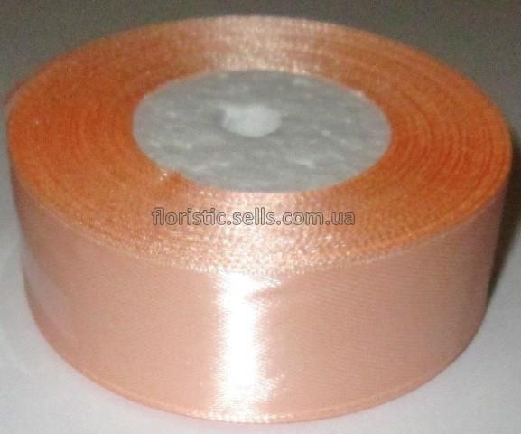 Лента атласная 2,5 персиковая