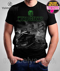Футболка черные мужские WORLD of TANKS танки  Valimark-Biz  034