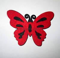 Бабочка фетровая красная