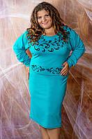 Женское платье больших размеров ( размеры 52,54,56,58,60), фото 1