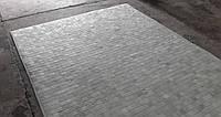 Белый кожаный ковер из шкуры коровы размеры под заказ 4х5, фото 1