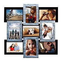 Коллаж из фотографий(фоторамка коллаж) Серебрянное мерцание.  4/10х15,4/15х10см.
