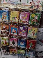 Новогодние елочные открытки 96шт