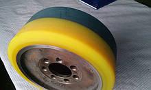Футеровка (восстановление) контактного слоя колёс и роликов складской техники (большегрузные)