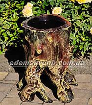 Подставка для цветов кашпо Пенек сказочный, фото 3