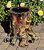 Подставка для цветов кашпо Пенек сказочный
