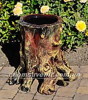 Подставка для цветов кашпо Пенек сказочный, фото 1