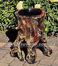 Подставка для цветов кашпо Пенек сказочный, фото 2