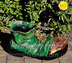 Подставка для цветов кашпо Ботинок малый, фото 3