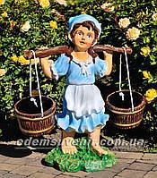 Подставка для цветов кашпо Девочка с коромыслом