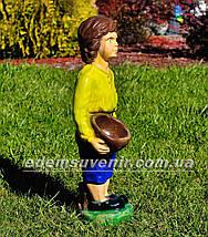 Подставка для цветов кашпо Мальчик с корзиной, фото 3