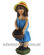 Подставка для цветов кашпо Девочка с корзиной, фото 2