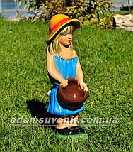Подставка для цветов кашпо Девочка с корзиной, фото 3