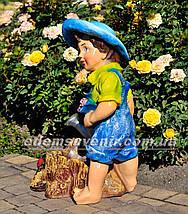 Садовая фигура цветочник Садовник, фото 2