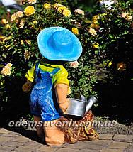 Садовая фигура цветочник Садовник, фото 3