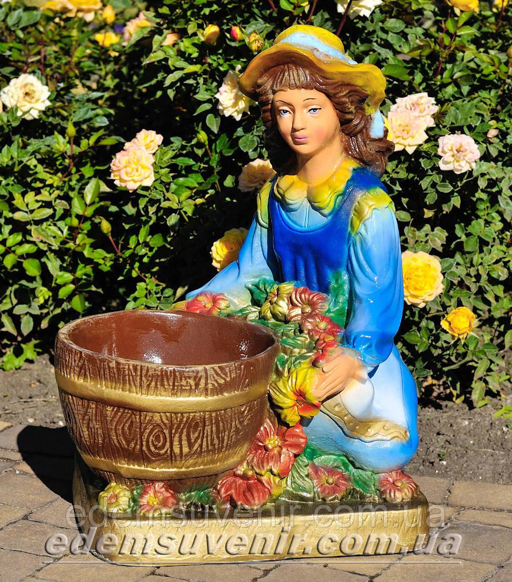 Подставка для цветов кашпо Галочка