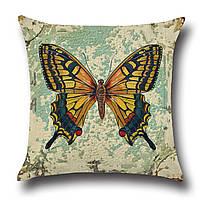 Подушка декоративная Желтая бабочка 45 х 45 см Berni